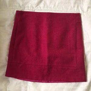 JCrew Fuchsia Wool Mini Skirt